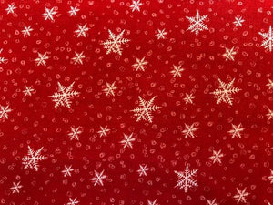 Quilting Cotton - Christmas Snow Flake - 1/2 metre