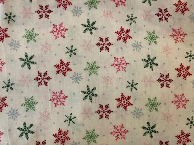 Quilting Cotton  - Christmas Snowflake - 1/2 meter