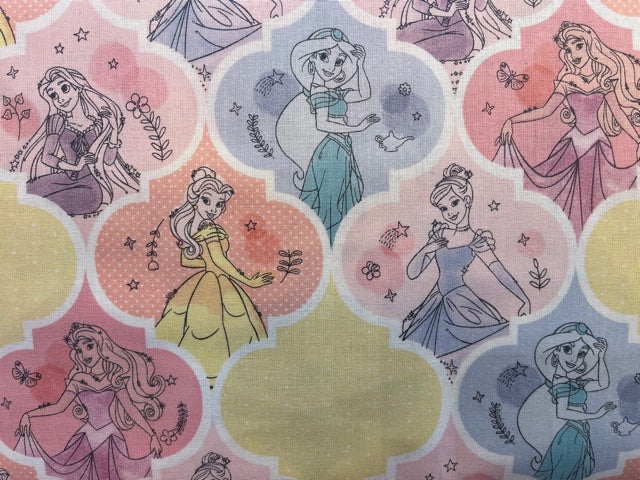 Quilting Cotton  - Disney Princesses  - 1/2 meter
