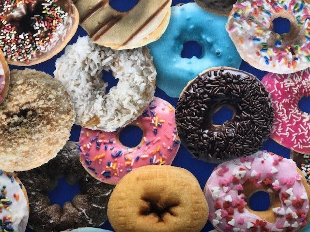 Quilting Cotton -  Donuts n Sprinkles - 1/2 metre