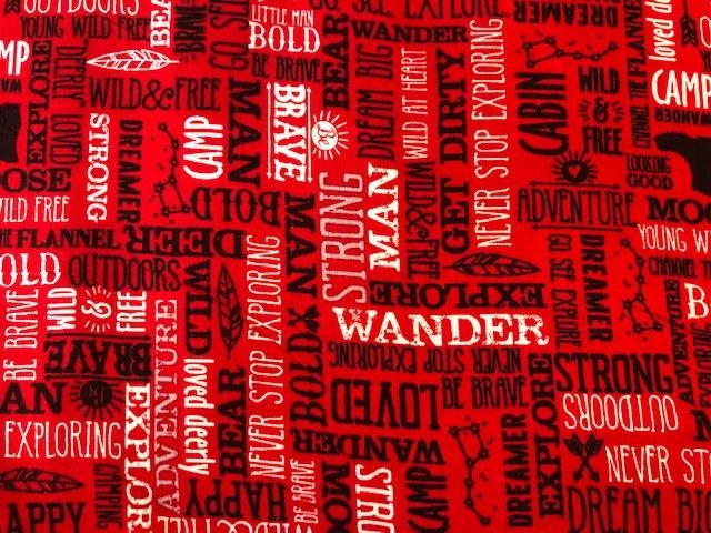 Quilting Cotton  - Dream big red - 1/2 meter