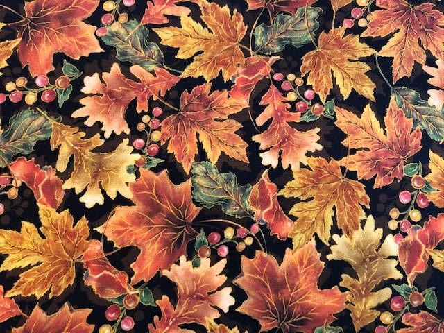 Quilting Cotton  - Fall Leaves - 1/2 meter