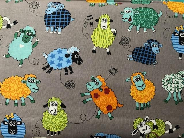 Quilting Cotton  - Farm Friends Sheep - 1/2 meter