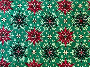 Quilting Cotton  - Holiday stars green - 1/2 meter