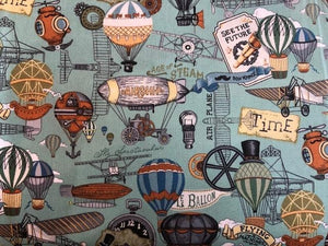 Quilting Cotton  - Hot air balloons - 1/2 meter