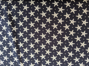 Quilting Cotton - Starfish - Navy - 1/2 metre
