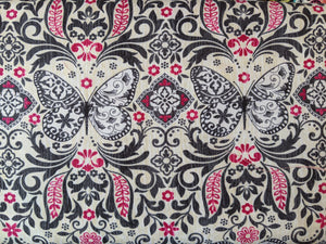 Quilting Cotton - Butterfly - Cream - 1/2 metre