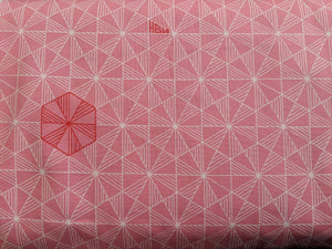Quilting Cotton - Geometric Hello - Pink - 1/2 metre