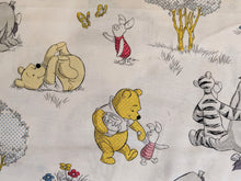 Load image into Gallery viewer, Quilting Cotton - Pooh, Piglet and Eeyore - White - 1/2 metre