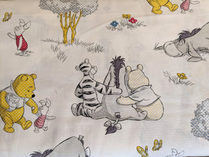 Quilting Cotton - Pooh, Piglet and Eeyore - White - 1/2 metre