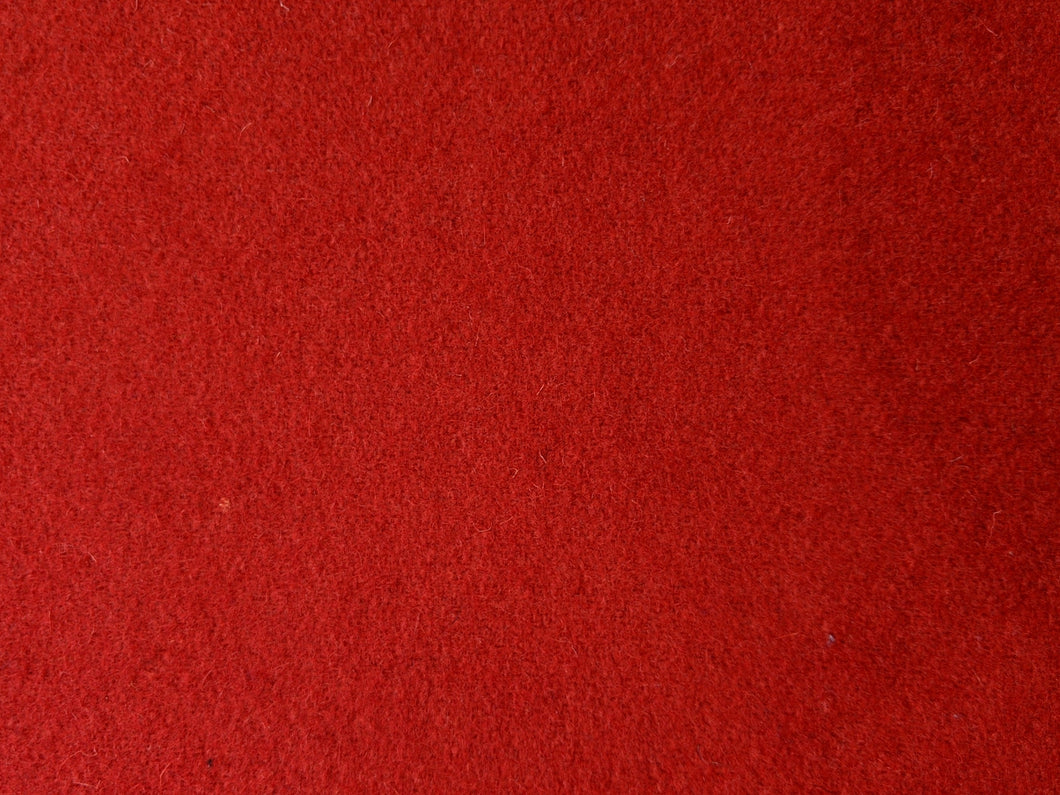 Wool Melton - Red  - 1/2 metre