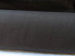 Cotton - Black Broadcloth - 1/2 metre