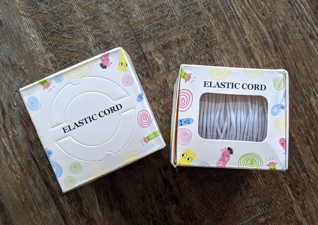 2mm Elastic Cord - White - 40 metre roll