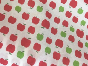 Quilting Cotton - Apples - White - 1/2 metre