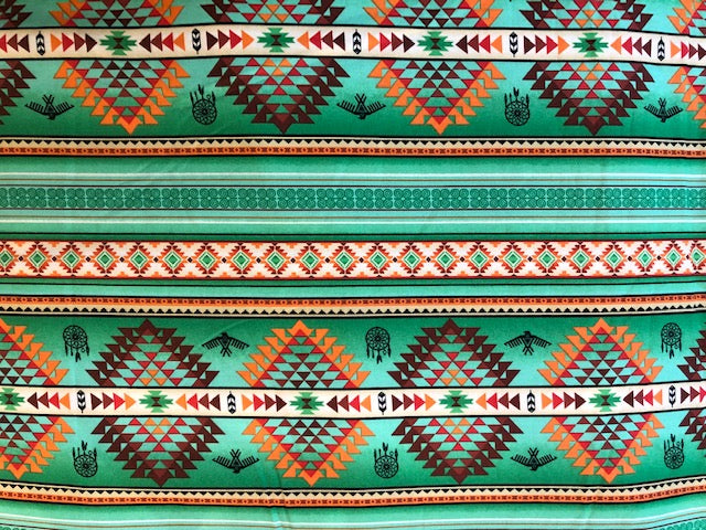 Quilting Cotton  - SouthWest - Green - 1/2 meter