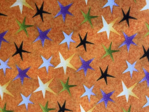 Quilting Cotton - Orange stars - 1/2 metre
