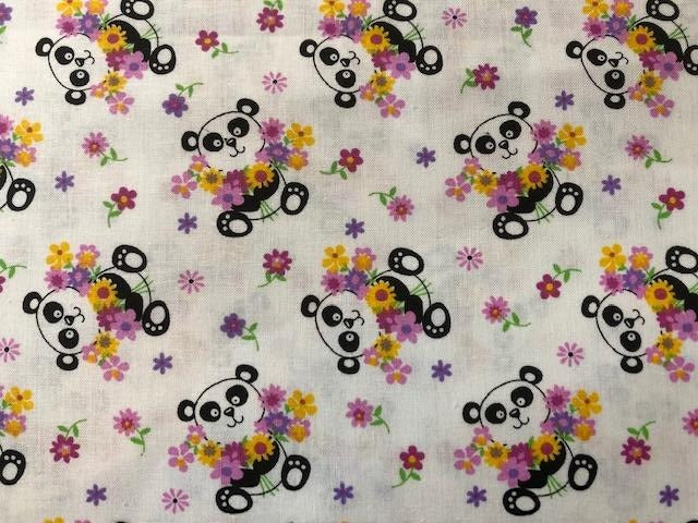 Quilting Cotton - Pandas - 1/2 metre