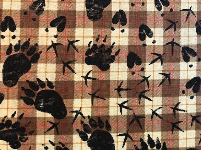Quilting Cotton  - Paws Forest - 1/2 meter