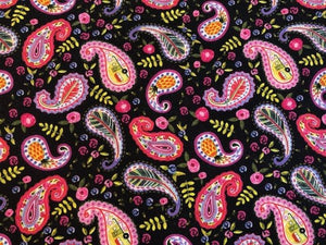 Quilting Cotton  - Pink paisley- 1/2 meter