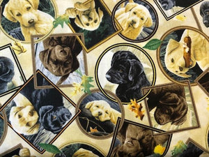 Quilting Cotton  - Puppies - 1/2 meter
