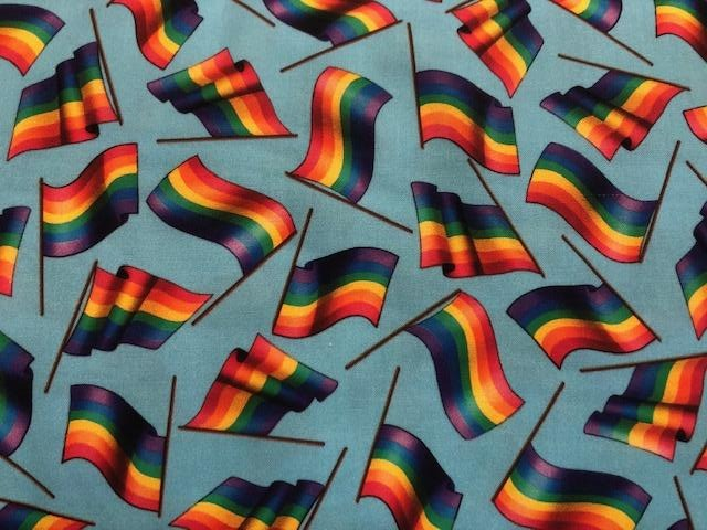 Quilting Cotton -  Rainbow Flag - 1/2 metre