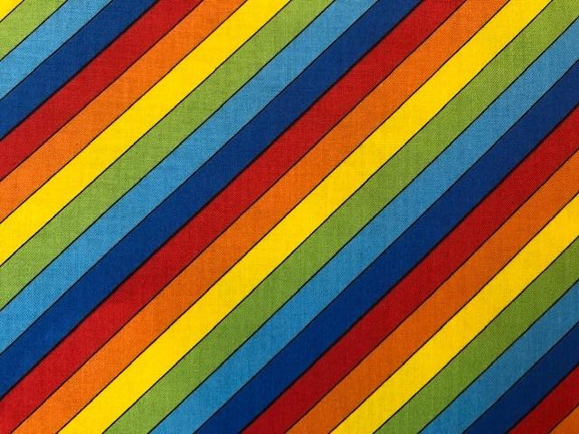 Quilting Cotton  - Rainbow stripe - 1/2 meter