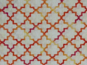 Quilting Cotton  - Retro geometric - 1/2 meter