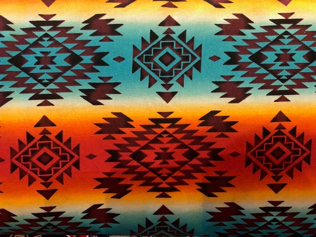 Quilting Cotton  - Southwest #2 - 1/2 meter