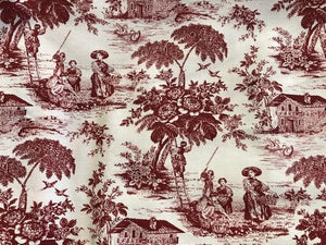 Cotton Canvas  - Toile Red - 1/2 meter