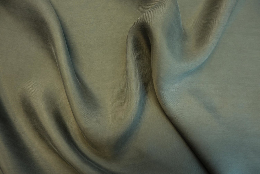 Cupro and Viscose Sandwashed  - khaki- 1/2 meter