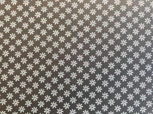 Quilting Cotton -White Flowers - 1/2 metre