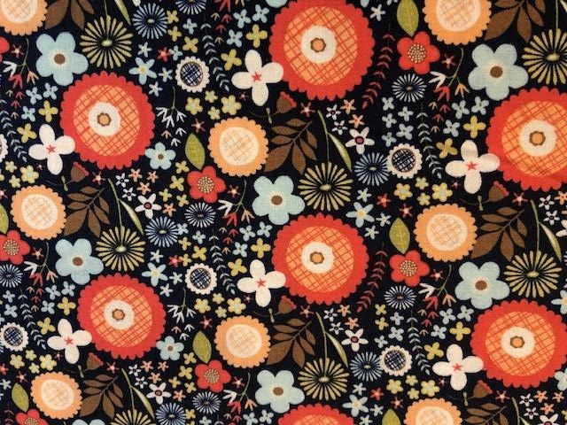 Quilting Cotton  - Woodlands Flower - 1/2 meter