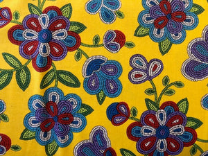 Quilting Cotton  - Beaded Flower yellow - 1/2 meter