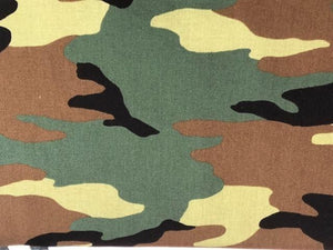 Quilting Cotton - Camo - Green - 1/2 meter