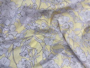 Cotton Lawn Print  - lilac/yellow - 1/2 meter