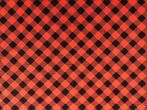 Quilting Cotton  - Diagonal Buffalo check  - 1/2 meter