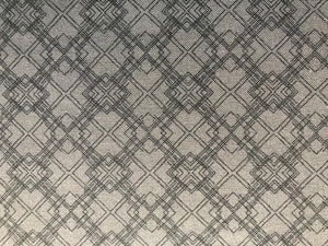 Quilting Cotton - grey overlapping squares - 1/2 metre
