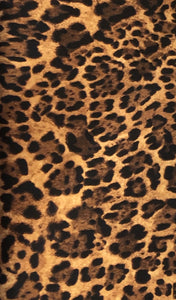 Quilting Cotton - Leopard Print - Gold Brown - 1/2 metre