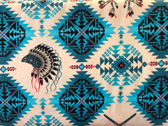 Quilting Cotton  - Native Spirit blue - 1/2 meter