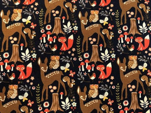 Quilting Cotton  - Woodlands - 1/2 meter