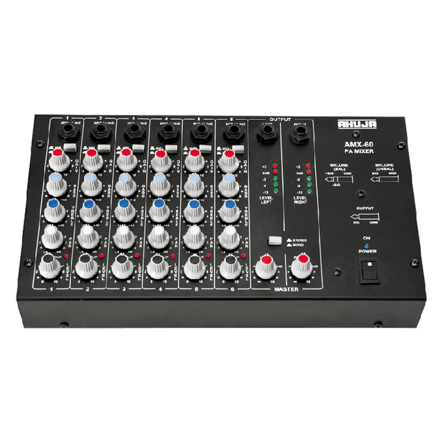 Ahuja PA Audio Mixing Consoles Stereo Model AMX-60