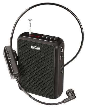 Ahuja Portable Neckband PA System Model NBA-30WL 10 Watt With Bluetooth And Recording