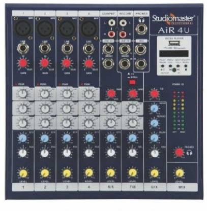 Studiomaster AIR 4U Mixer With Bluetooth And Usb