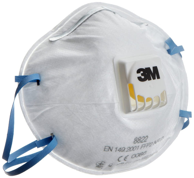 3M Mist Respirator Dust Mask 8822 (PACK OF 10)