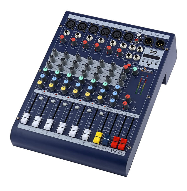 Studio Master AIR 6U Mixer With Bluetooth And Usb