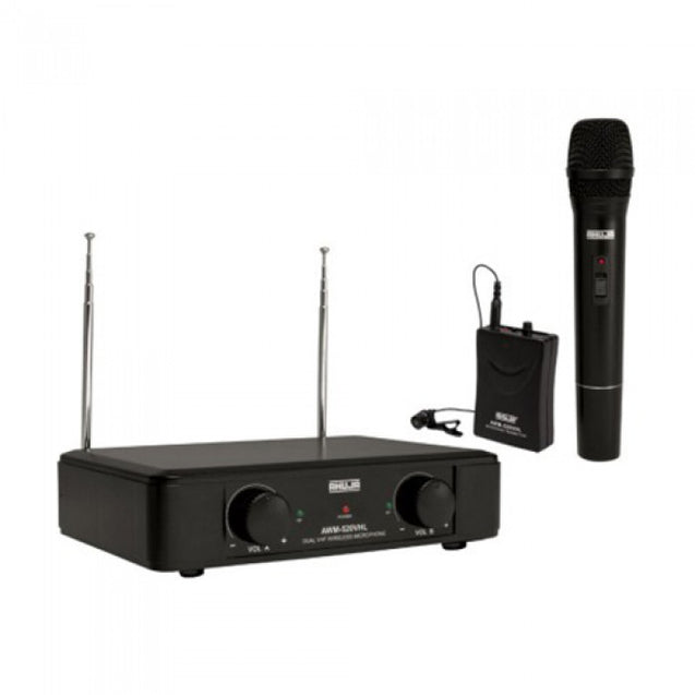 Ahuja Professional VHF Wireless PA Microphones Model AWM-520VHL