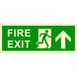 Infernocart Fire Exit Upwards Sign Board - Set of 5
