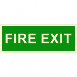 Infernocart Fire Exit Sign Board Set of 5