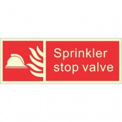 Infernocart Sprinkler Stop Valve Sign Board - Set of 5