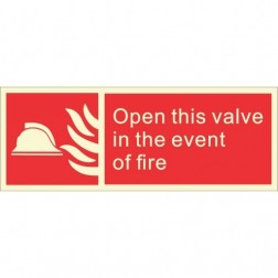 Infernocart Open This Valve In The Event Of Fire Sign Board - Set of 5
